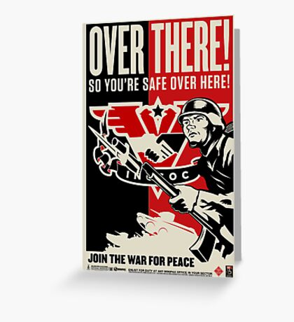 """INGSOC """"Over There"""" 1984 Propaganda Poster Greeting Card"""