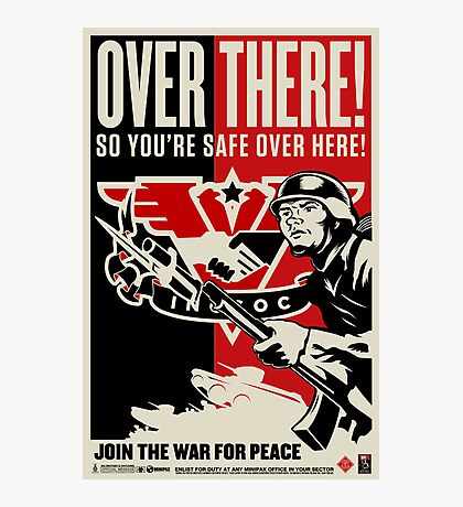 "INGSOC ""Over There"" 1984 Propaganda Poster Photographic Print"