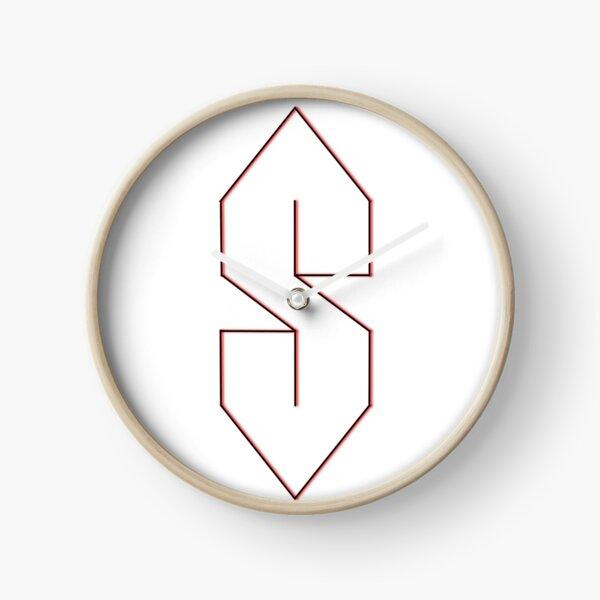 S letter  Clock