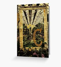 "Grungy Melbourne Australia Alphabet Series Letter ""C"" Conservatory Greeting Card"