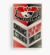 INGSOC Ignorance Is Strength Canvas Print