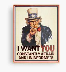 Uncle Sam Fear & Ignorance Metal Print