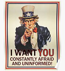 Uncle Sam Fear & Ignorance Poster