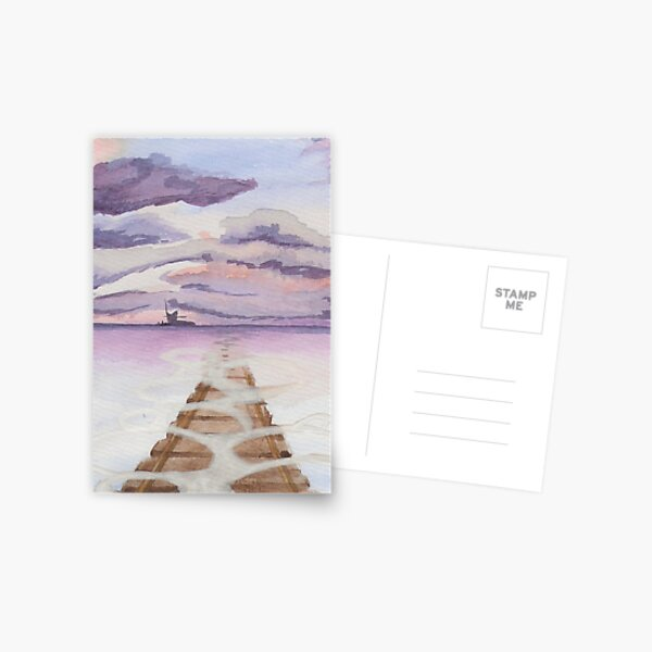 Spiritueux loin aquarelle encore Carte postale