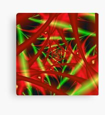 Red and Green Neural Network Canvas Print