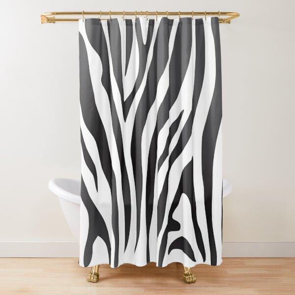 Zebra Print Animal Lover  Shower Curtain