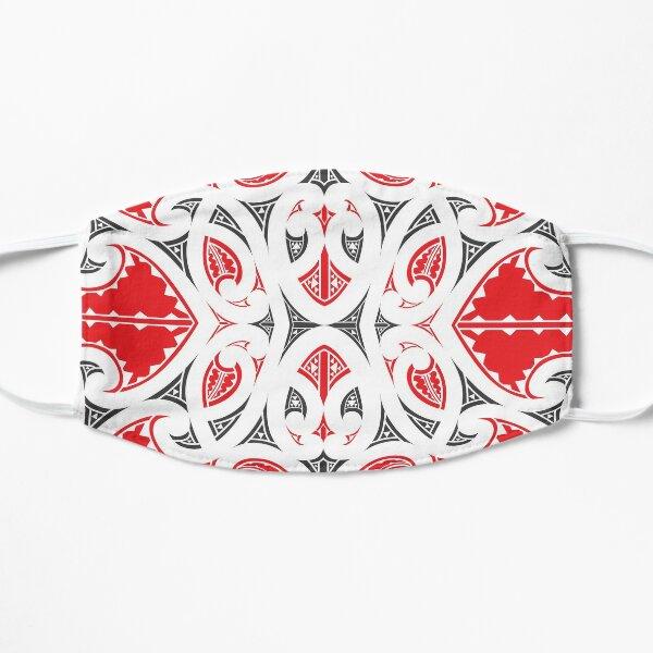 Kowhaiwhai Miki (Red and Black Flat Mask