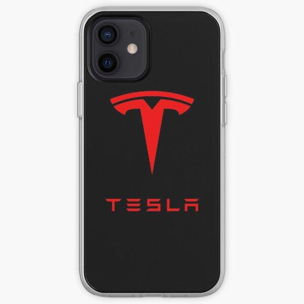 Tesla Logo (Red) iPhone Soft Case