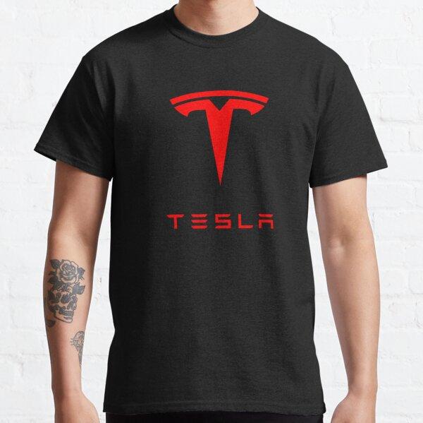 Logo Tesla (rouge) T-shirt classique