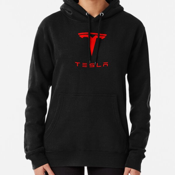Logo Tesla (rouge) Sweat à capuche épais