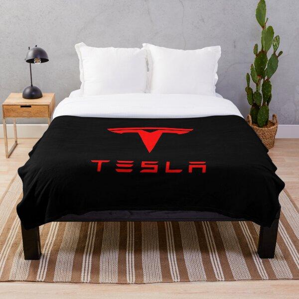 Tesla Logo (Red) Throw Blanket