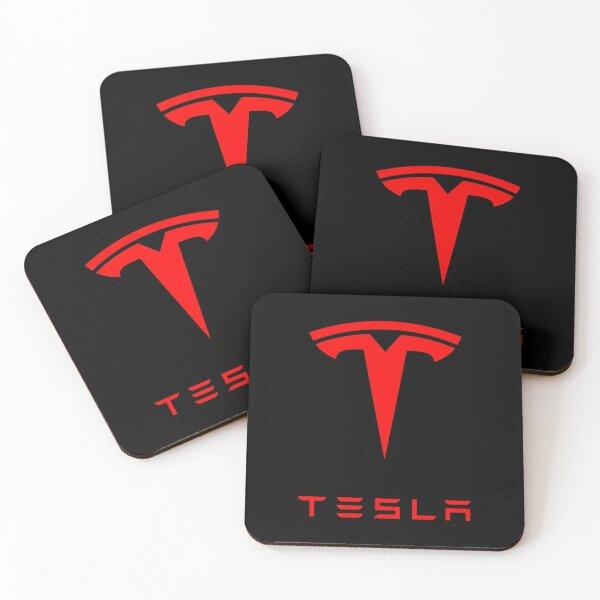 Tesla Logo (Red) Coasters (Set of 4)
