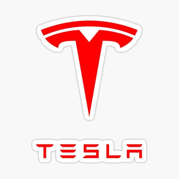 Tesla Logo (Red) Sticker