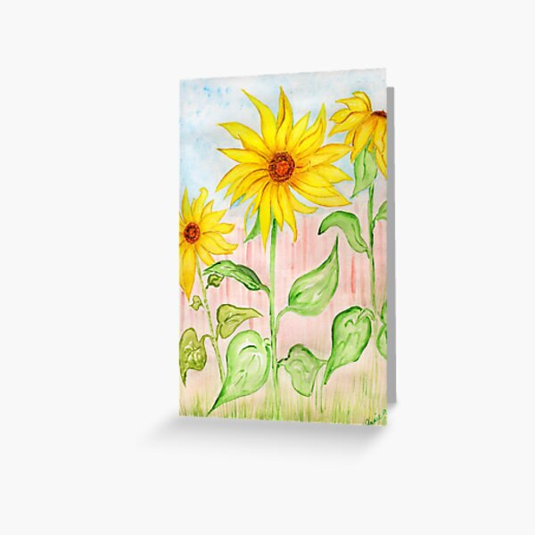 Sunflowers for Jeannette  Greeting Card