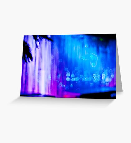 Abstract #12 - Curtain of Light Greeting Card