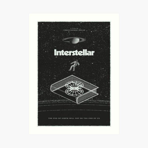 Poster of the movie interstellar Art Print
