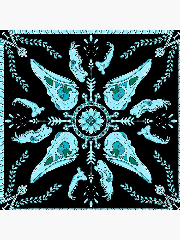 Designer Bird Skull - Blue by Blacksmoke1033