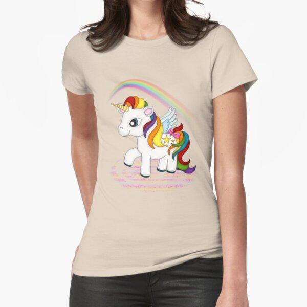 Rainbow Unicorn  Fitted T-Shirt