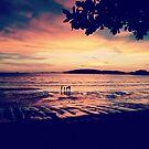 Sunset over Ao Nang Beach, Krabi Thailand by sailgirl