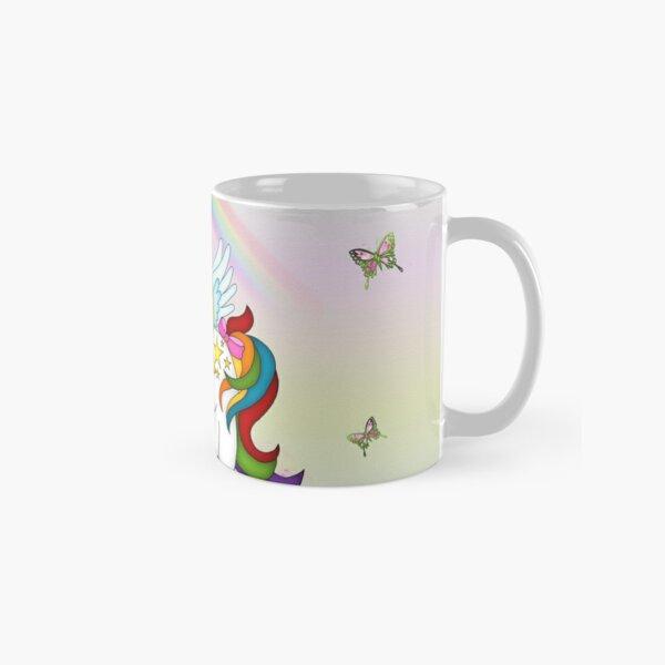 Rainbow Unicorn and Butterflies  Classic Mug