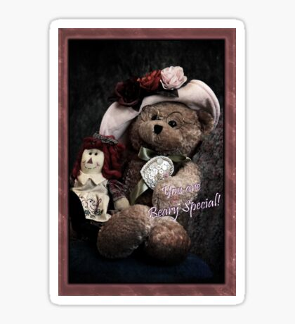 You Are Beary Special Card Sticker