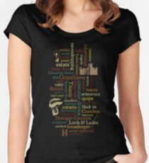 Downton Abbey Word Mosaic Women's Fitted Scoop T-Shirt