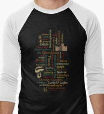 Downton Abbey Word Mosaic Men's Baseball ¾ T-Shirt