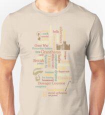 Downton Abbey Word Mosaic Unisex T-Shirt