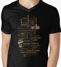 Downton Abbey Word Mosaic Men's V-Neck T-Shirt