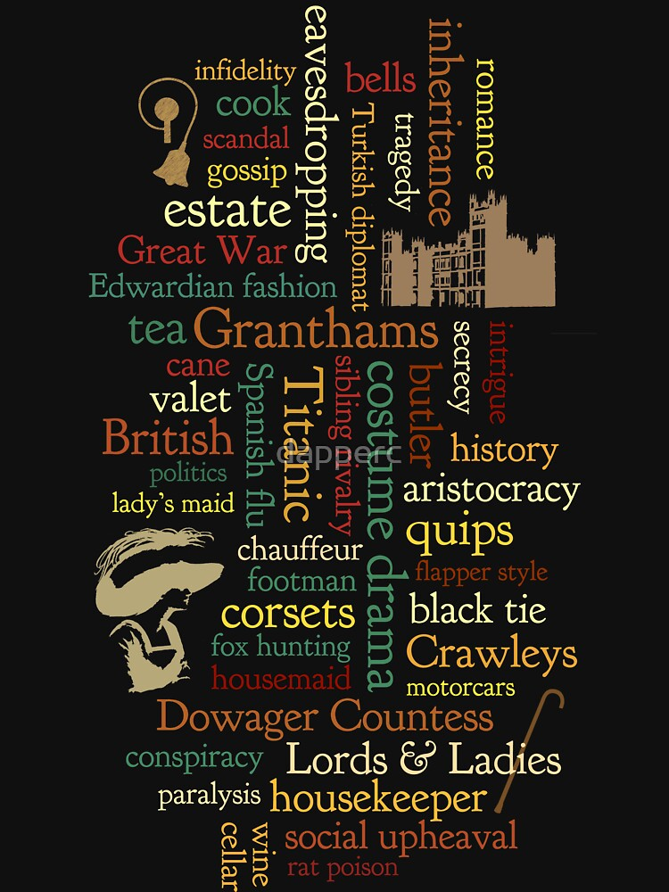Downton Abbey Word Mosaic | Women's T-Shirt
