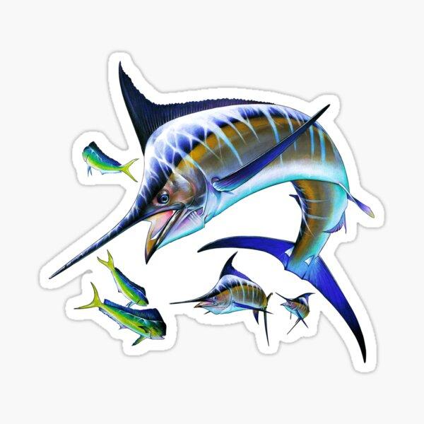 Marlin and Mahi Mahi Sticker