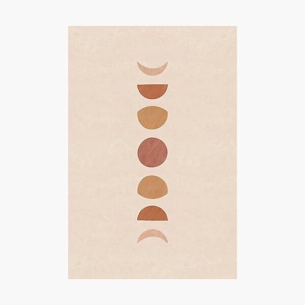 Boho Moon Phases Photographic Print