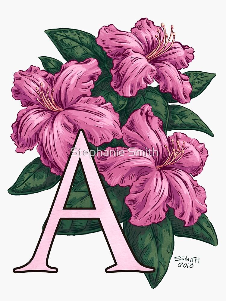 A is for Azalea Flower Monogram Floating by stephsmith