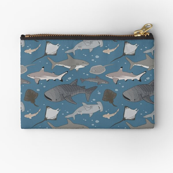 Sharks and Rays Zipper Pouch
