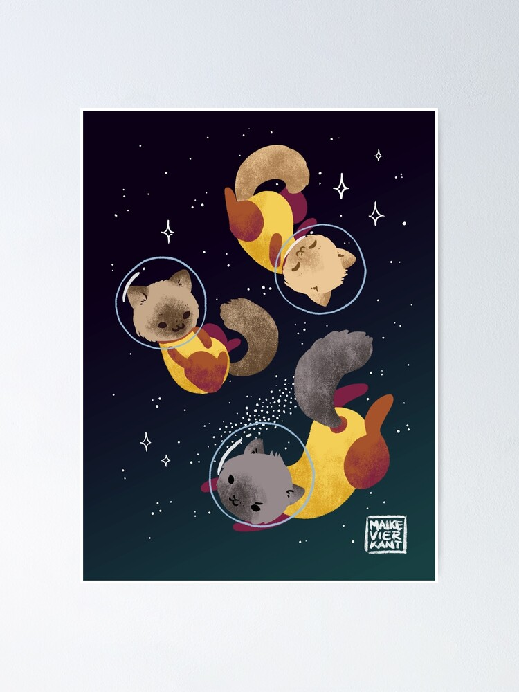 Alternate view of Space Cats Poster