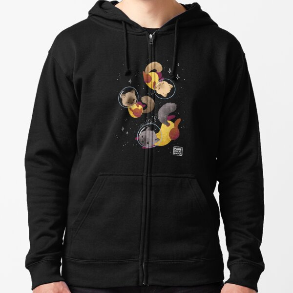 Space Cats Zipped Hoodie