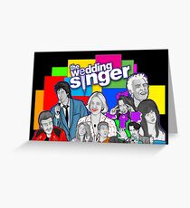 the Wedding Singer character collage Greeting Card