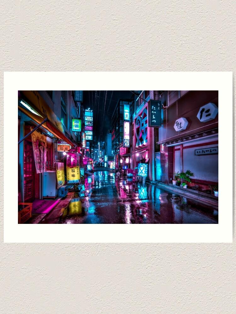 Alternate view of Tokyo at Night - Shimbashi Art Print