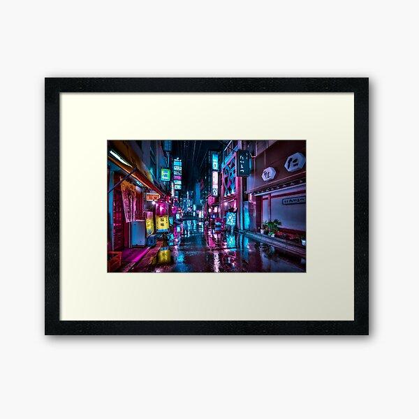 Tokyo at Night - Shimbashi Framed Art Print