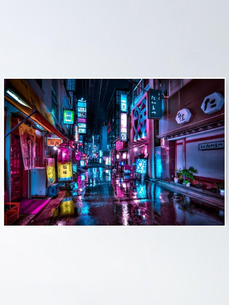 Alternate view of Tokyo at Night - Shimbashi Poster