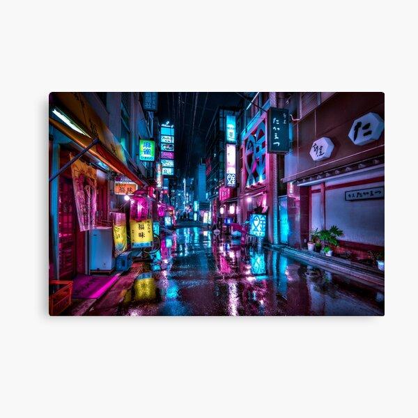 Tokio de noche - Shimbashi Lienzo