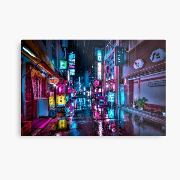 Tokyo at Night - Shimbashi Metal Print