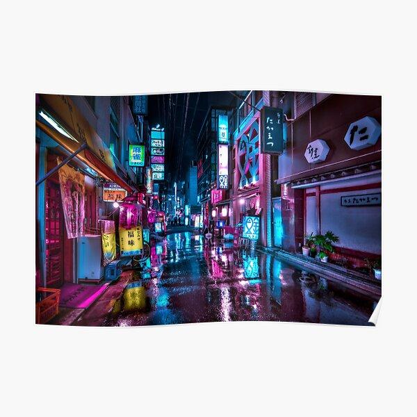 Tokyo at Night - Shimbashi Poster