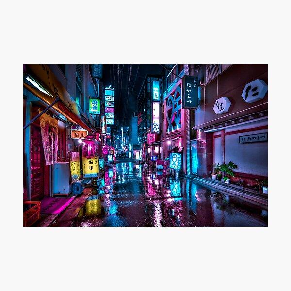 Tokyo at Night - Shimbashi Photographic Print