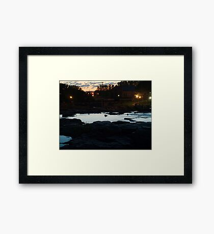 Dawn Above The Sioux Falls Framed Print