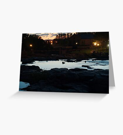 Dawn Above The Sioux Falls Greeting Card