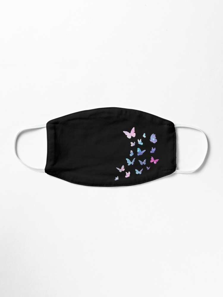 Alternate view of Butterflies, Colorful Butterfly, Washable Reusable, Dream, Pastel Colors, Baby Pink Purple, Stylish Insects Mask
