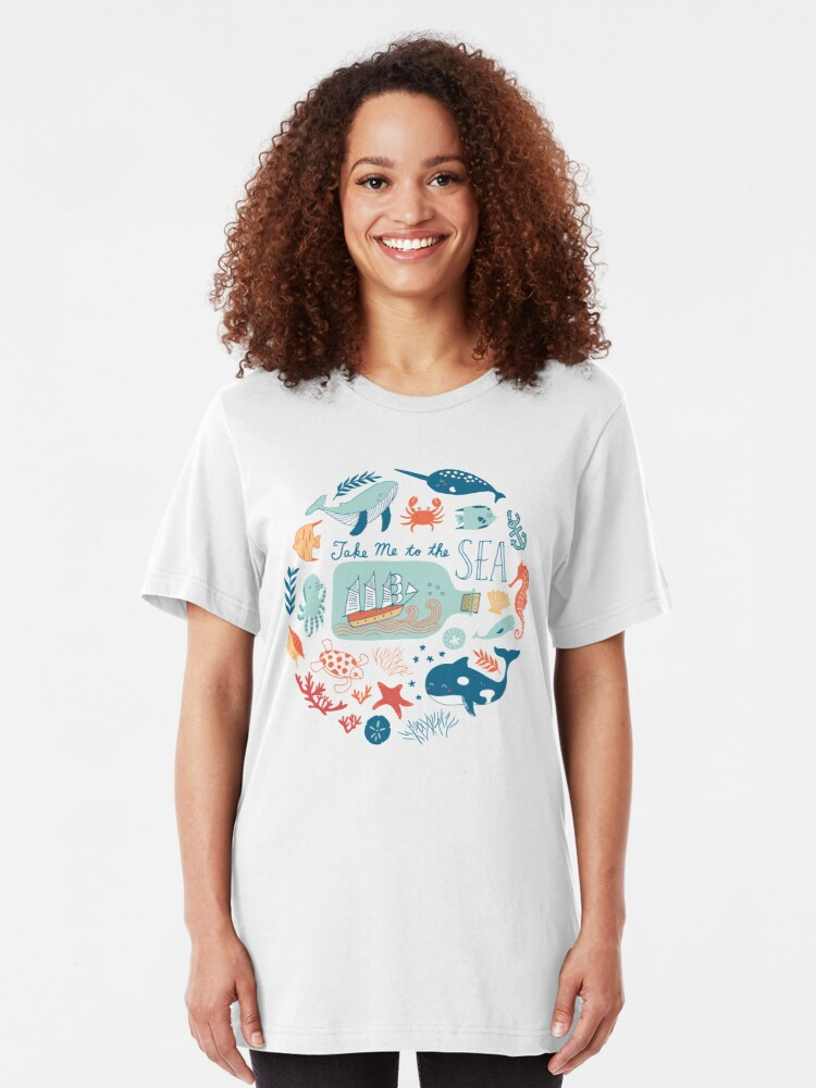 Alternate view of Take Me to the Sea Slim Fit T-Shirt