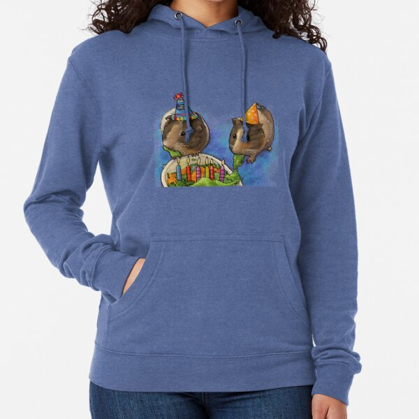 Power Piggy- Guinea Pigs at Birthday Party Lightweight Hoodie