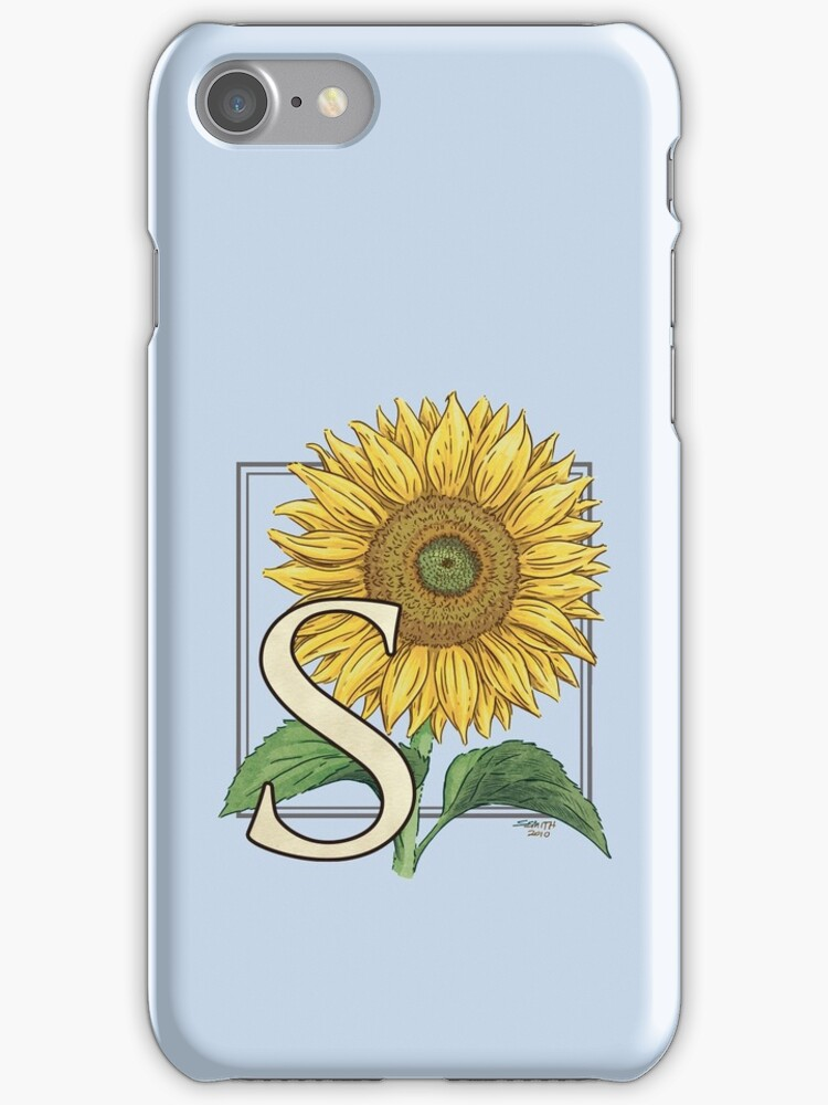 S is for Sunflower - floating by Stephanie Smith